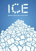 heap of ice cubes, vector illustration