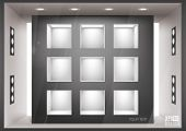 Storefront  with illumination of shelves into the wall, you can change colors for the background, ep