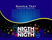 Night abstract design background