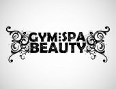 gym, spa and beauty background