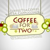 Coffee Background. Vector Illustration