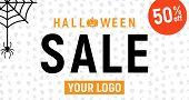 Halloween Sale, Halloween Discount Background, Halloween Offer Banner, Vector Illustration, poster