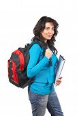 Student Woman With Backpack poster