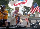 Military Veteran in Parade