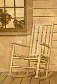 Old Rocker on Porch with Antique Overlay