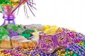 carnival cake with colorful beads