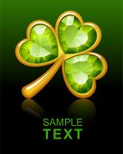 stock photo of st patty  - Jewelry shamrock - JPG