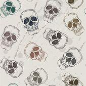 Seamless pattern from skulls