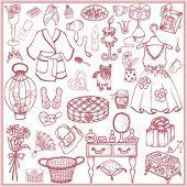Conjunto de niña doodle