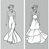 Stylish wedding silhouettes
