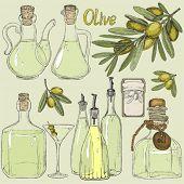 Big set doodle olive oil