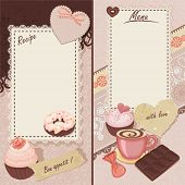 Scrapbook, vintage sweet decor with free space for your text.