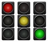 stock photo of traffic signal  - Traffic lights isolated on white background - JPG