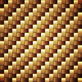 Seamless golden webbed vector texture.