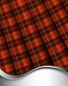 Background with pleated Wallace tartan
