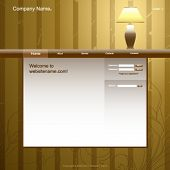 Website design template, vintage room interior