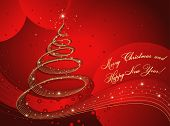 foto of merry christmas text  - merry christmas and happy new year card - JPG
