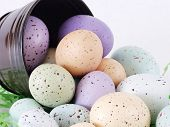 Pastel Flecked Eggs, Close