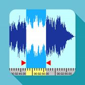 Music Frequency Icon. Flat Illustration Of Music Frequency Icon For Web Design poster