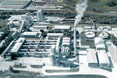 Cement Production, Plant For Burning Cement Mix. Shooting From The Air. poster