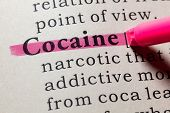 Fake Dictionary, Dictionary Definition Of The Word Cocaine. Including Key Descriptive Words. poster