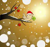 winter tree lucky bird