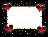 Valentine Heart Frame On Black