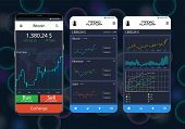 Trade Exchange App On Phone Screens. Professional Trader Tools For Successful Trading. Mobile Bankin poster