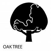 Oak Tree Icon. Simple Illustration Of Oak Tree Icon For Web poster