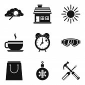 Warm Atmosphere Icons Set. Simple Set Of 9 Warm Atmosphere Icons For Web Isolated On White Backgroun poster