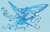 image of fairy-tale  - vintage fairy graphic - JPG