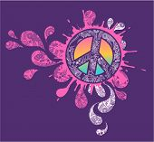 foto of peace-sign  - Splattered Peace sign - JPG
