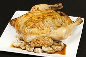 Whole Roast Chicken And Garlic, Whole