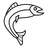 Tuna Icon. Outline Illustration Of Tuna Icon For Web poster