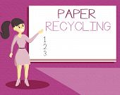 Handwriting Text Writing Paper Recycling. Concept Meaning Using The Waste Papers In A New Way By Rec poster