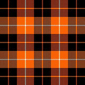 Halloween Tartan Plaid. Scottish Pattern In Orange, Black, Gray And White Cage. Scottish Cage. Tradi poster