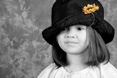 Little Girl With Yellow Flower,