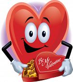 Heart Man with Box of Chocolates