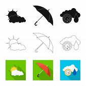 Vector Design Of Weather And Weather Logo. Collection Of Weather And Application Stock Vector Illust poster