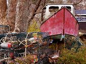 Old Junky Boat in a Yard