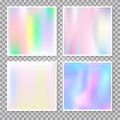 Hologram Abstract Backgrounds Set. Liquid Gradient Backdrop With Hologram. 90s, 80s Retro Style. Pea poster