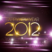 pic of new years celebration  - vector new year golden style background - JPG