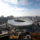 KYIV, UKRAINE - NOVEMBER 24: The Olympic Stadium Under Construction For The UEFA EURO 2012 on Novemb