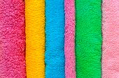 Bath colorful towels on isolated