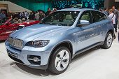 GENEVA - MARCH 8: The BMW X6 on display at the 81st International Motor Show Palexpo-Geneva on March