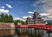 Schöne mittelalterliche Burg Matsumoto in der eastern Honshu, Japan