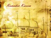 Beautiful Mosque and Masjid background for Ramadan Kareem or Ramazan Kareem. EPS 10.
