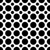 stock photo of dot pattern  - A seamless pattern of alternating large and small black dots - JPG
