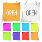 Open. Raster note papers. Vector version is in portfolio.