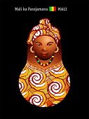 Matryoshkas of the World: malian girl in colorful boubou dress
